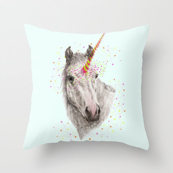 Unicorn V Throw Pillow