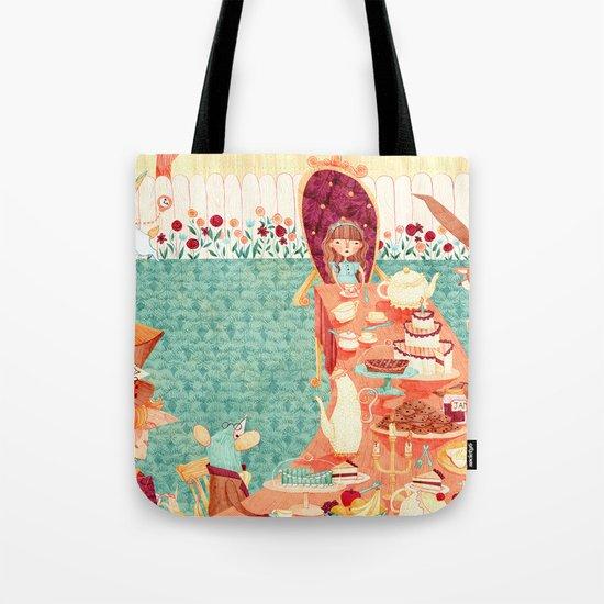 Alice's Tea Party Tote Bag