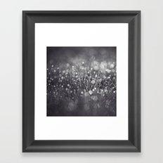 black and white and bokeh Framed Art Print
