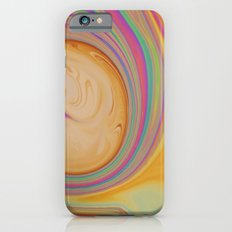 caramel and pastel swirl - soap and water abstract iPhone 6s Slim Case