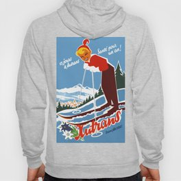 Vintage Autrans France Ski Travel Hoody