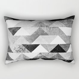 Triangle vintage black-and-white monochrome based1 Rectangular Pillow