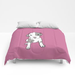 Millie The Pitbull Puppy Comforters