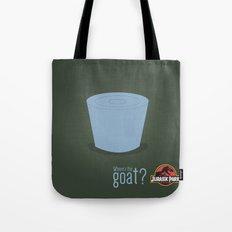 Jurassic Park  ¿Where's the goat? Tote Bag
