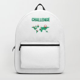 Geocaching Geocachers GPS Location Trackers Navigational Gift Challenge Accepted Backpack