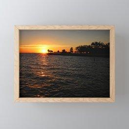 Julep Point Sunset Framed Mini Art Print