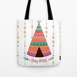 Boho Stay Wild Tote Bag