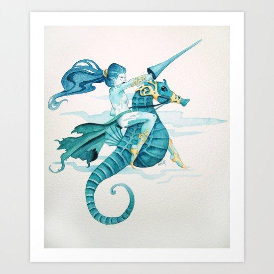 Sea Warrior Art Print