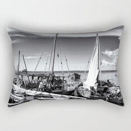 Dhow Boats Stone Town Port Zanzibar Rectangular Pillow