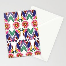 Gypsy Floral on White Stationery Cards