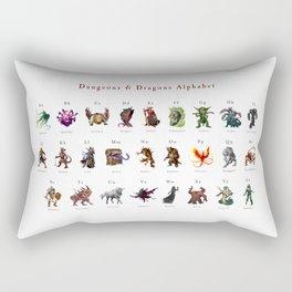 Monster Alphabet Rectangular Pillow
