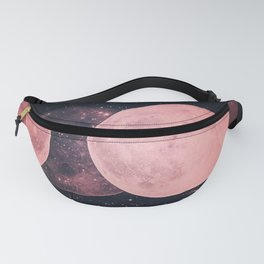 Pink Moon Phases Fanny Pack