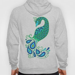 Blue and Green Peacock Hoody