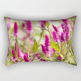 Colorful Celosia Rectangular Pillow