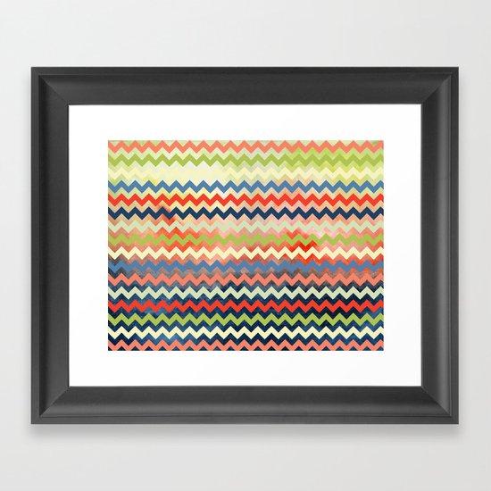 Watercolor Chevron Framed Art Print