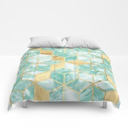 Gold and crystal mosaic Comforters