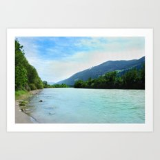 River near Hopfgarten, Austria Art Print