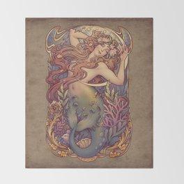 Andersen Little Mermaid Nouveau Throw Blanket