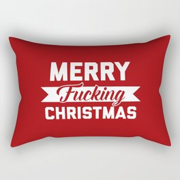 Merry Fucking Christmas, Funny Quote Rectangular Pillow