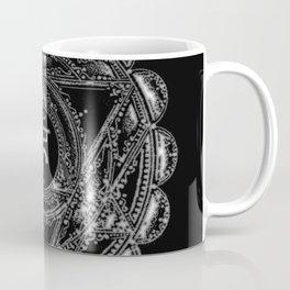 Black and White Throat Chakra Coffee Mug