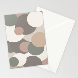 Earth toned colored bubbles Stationery Cards