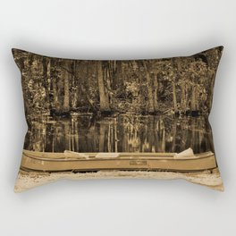 Boat And Swamp Waters Rectangular Pillow