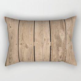 Wood I Rectangular Pillow