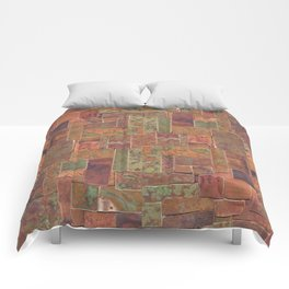 Red Patina Patchwork Comforters