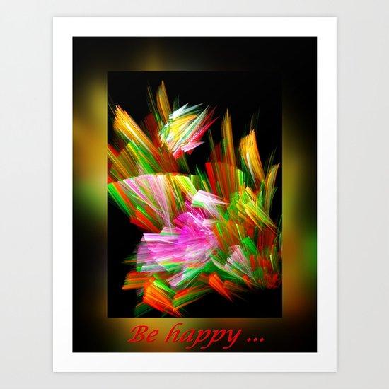 Be happy II Art Print