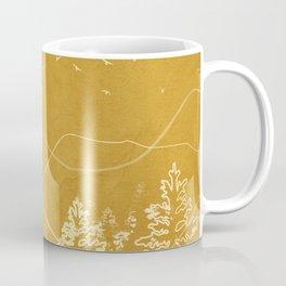Minimalist Landscape Line Art III Coffee Mug