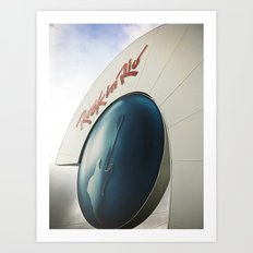 Front entrance of the Rock in Rio Art Print
