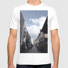 Streets of Glasgow White Mens Fitted Tee MEDIUM