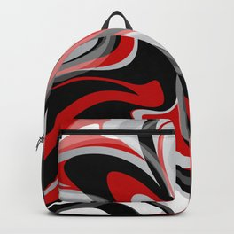 Liquify - Red, Gray, Black, White Backpack