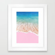 PINK SAND Framed Art Print