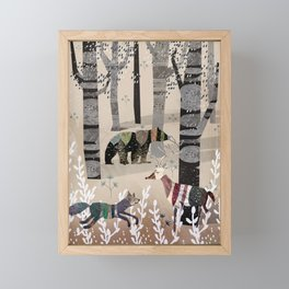 Forest in Sweater Framed Mini Art Print