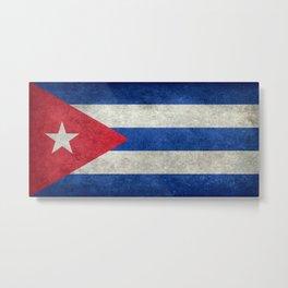 Flag of Cuba - vintage retro version Metal Print