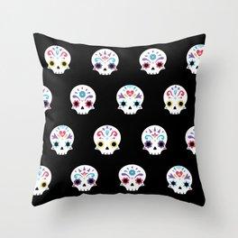 Cute sugar skulls B Throw Pillow