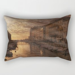 The Canal in Trieste Rectangular Pillow