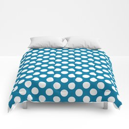 Blue and white polka dots Comforters