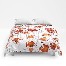 Puppy Ink Splatter Comforters
