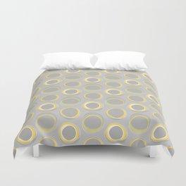 Solar Eclipse MCM Gray-Yellow Duvet Cover