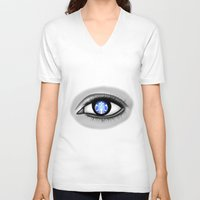 starbucks V-neck T-shirts featuring Starbucks Eye by Miguel Angel