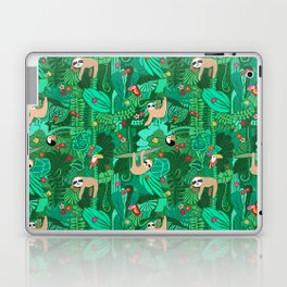 Sloths in the Emerald Jungle Pattern Laptop & iPad Skin