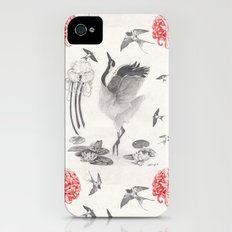 Crane, Swallow, Frog Slim Case iPhone (4, 4s)
