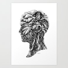 Portrait of Winter Art Print