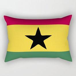 Ghana flag emblem Rectangular Pillow