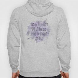 Character that dies (lavender) Hoody