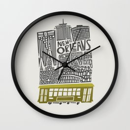 New Orleans City Cityscape Wall Clock