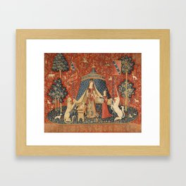 The Lady And The Unicorn Framed Art Print