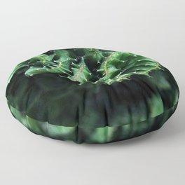 Emerald green Cactus Botanical Photography, Nature, Macro, Floor Pillow